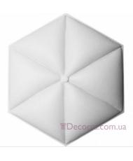 3D Панель Art Decor W 332 Кожа (шестиугольник, 404х466х38 мм)
