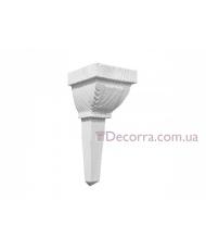 Декоративная консоль для балок Decowood E 046 classic белая 14х13