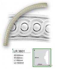 Молдинг для стен радиусный Gaudi Decor LR 3601