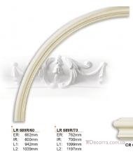 Молдинг для стен радиусный Gaudi Decor LR 689R60