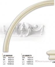 Молдинг для стен радиусный Gaudi Decor LR 689R70