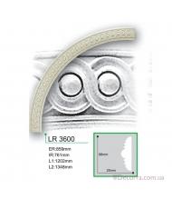 Молдинг для стен радиусный Gaudi Decor LR 3600