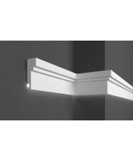 Карниз для фасада LED скрытого освещения Prestige decor KC 303LED (2.00м)