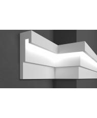 Молдинг для стен фасадный LED скрытого освещения Prestige decor MC 307LED (2.00м)
