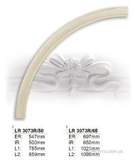 Молдинг для стен радиусный Gaudi Decor LR 3073R65