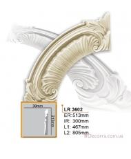 Молдинг для стен радиусный Gaudi Decor LR 3602