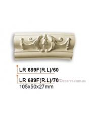 Молдинг для стен радиусный Gaudi Decor LR 689F(RL)70
