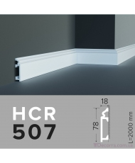 Напольный плинтус гибкий HCR 507 (2,44м) Flex