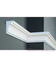 Карниз для фасада LED скрытого освещения Prestige decor KC 301LED (2.00м)