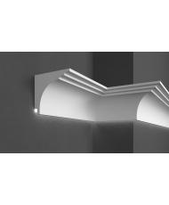 Карниз для фасада LED скрытого освещения Prestige decor KC 305LED (2.00м)