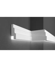 Молдинг для стен фасадный LED скрытого освещения Prestige decor MC 301LED (2.00м)