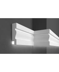 Молдинг для стен фасадный LED скрытого освещения Prestige decor MC 303LED (2.00м)