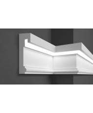 Молдинг для стен фасадный LED скрытого освещения Prestige decor MC 308LED (2.00м)