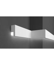 Молдинг для стен фасадный LED скрытого освещения Prestige decor MC 309LED (2.00м)