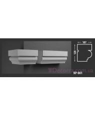 Карниз для фасада КР-001 107x120 мм