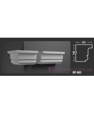 Карниз для фасада КР-005 135x130 мм