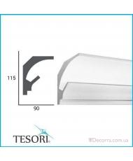 Карниз LED скрытого освещения Tesori KD201