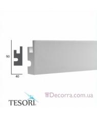 Карниз LED скрытого освещения Tesori KD301